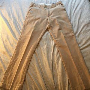 Banana Republic cotton linen tan dress pants